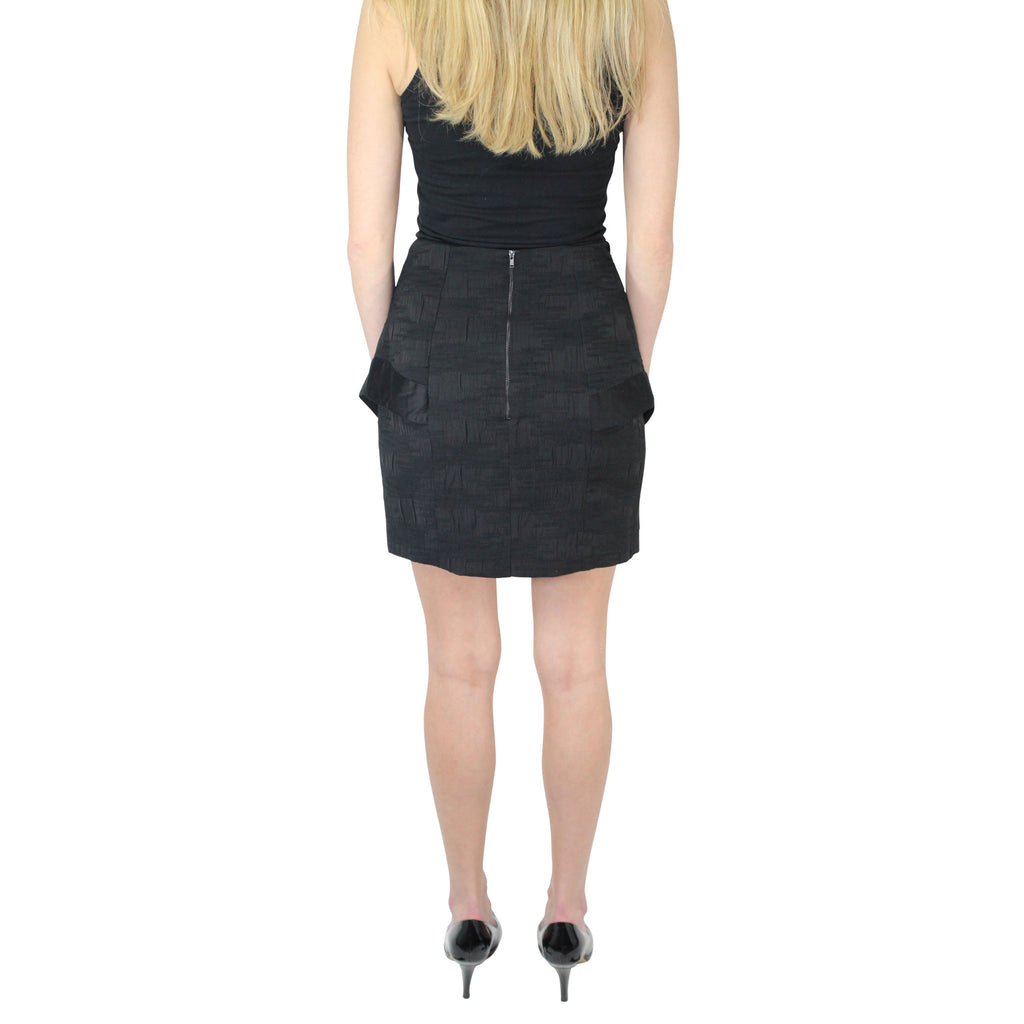 Hunter Bell  Textured Ottoman Peplum Skirt Size  Muse Boutique Outlet | Shop Designer Clearance Skirts on Sale | Up to 90% Off Designer Fashion
