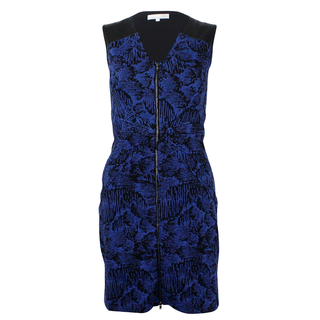 Hunter Bell Navy Stitch Printed Zip Front Dress Size Small Muse Boutique Outlet | Shop Designer Clearance Dresses on Sale | Up to 90% Off Designer Fashion