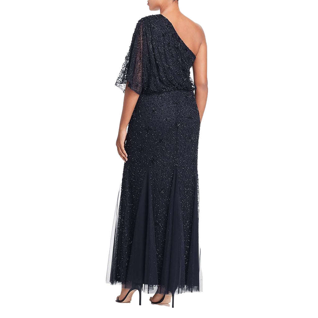 Adrianna Papell  One Shoulder Embellished Evening Dress Size  Muse Boutique Outlet | Shop Designer Evening/Cocktail on Sale | Up to 90% Off Designer Fashion