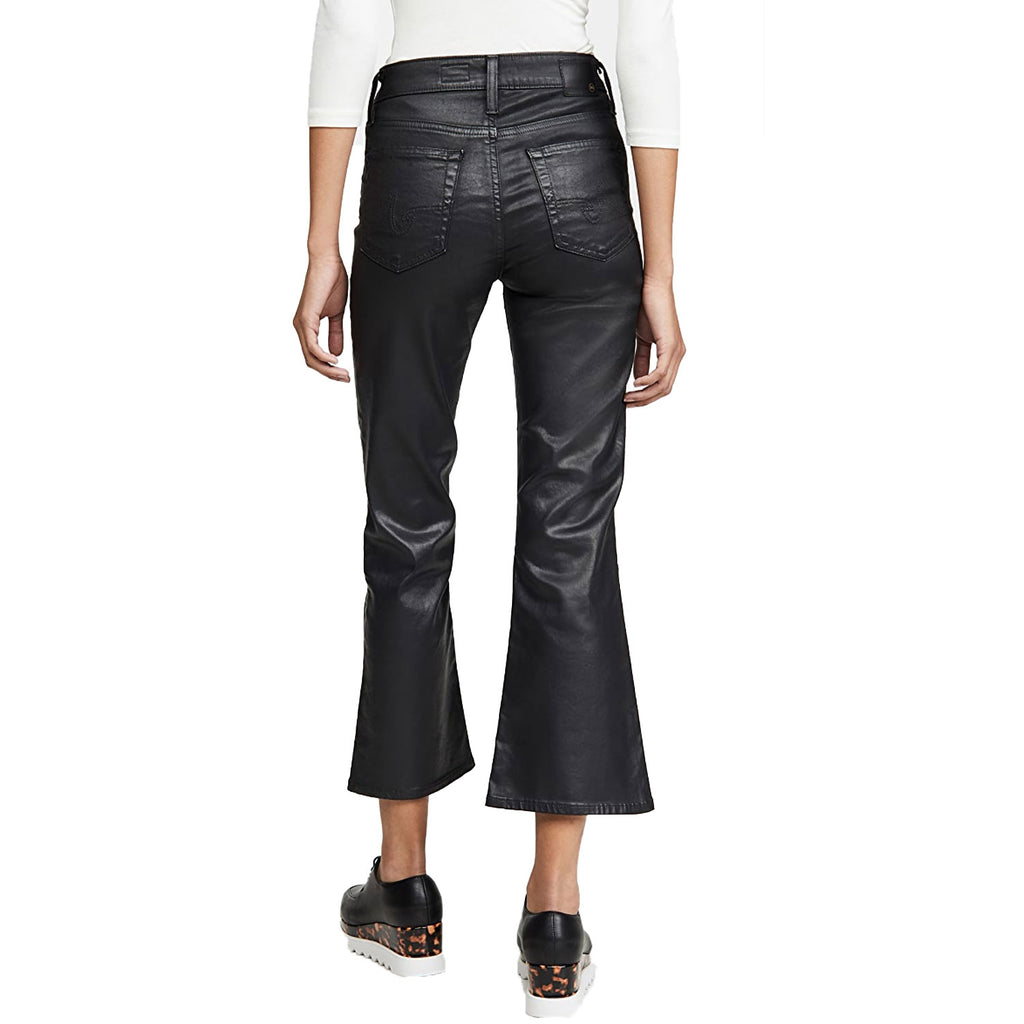 AG  Black Coated Crop Flare Size  Muse Boutique Outlet | Shop Designer Denim Pants on Sale | Up to 90% Off Designer Fashion