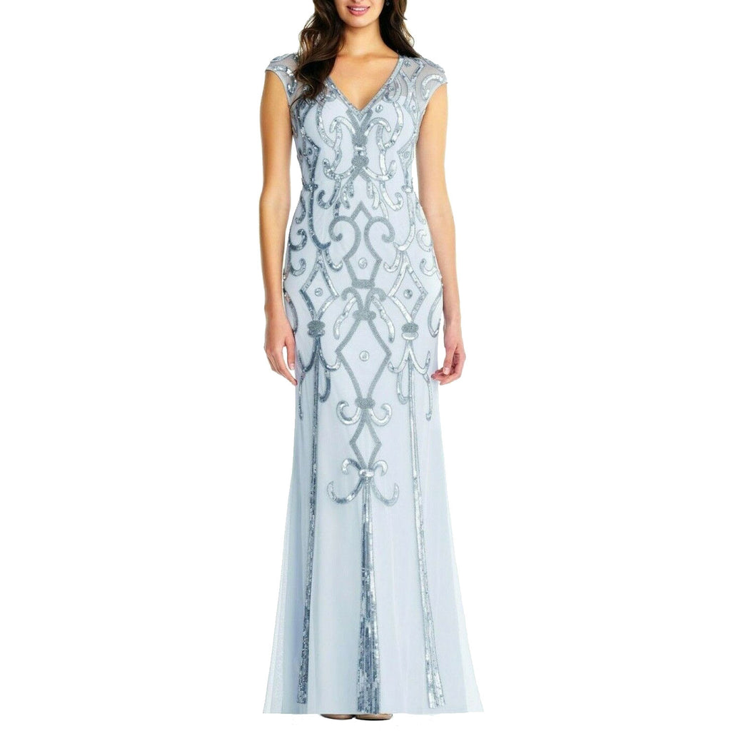 Aidan Mattox Cloud blue Deco Embellished Evening Gown Size 0 Muse Boutique Outlet | Shop Designer Dresses on Sale | Up to 90% Off Designer Fashion
