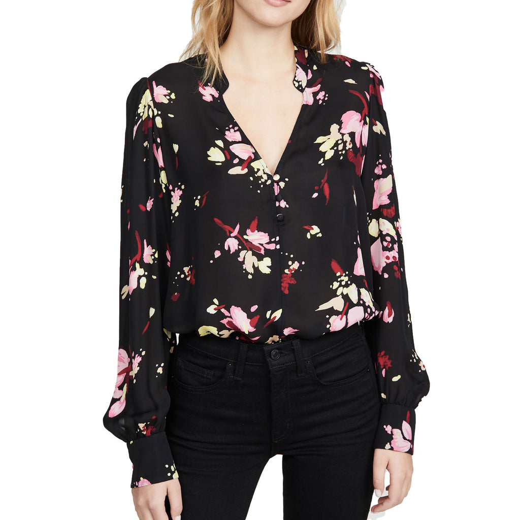 A.L.C. Black Rivera Floral Top Size 0 Muse Boutique Outlet | Shop Designer Blouses on Sale | Up to 90% Off Designer Fashion