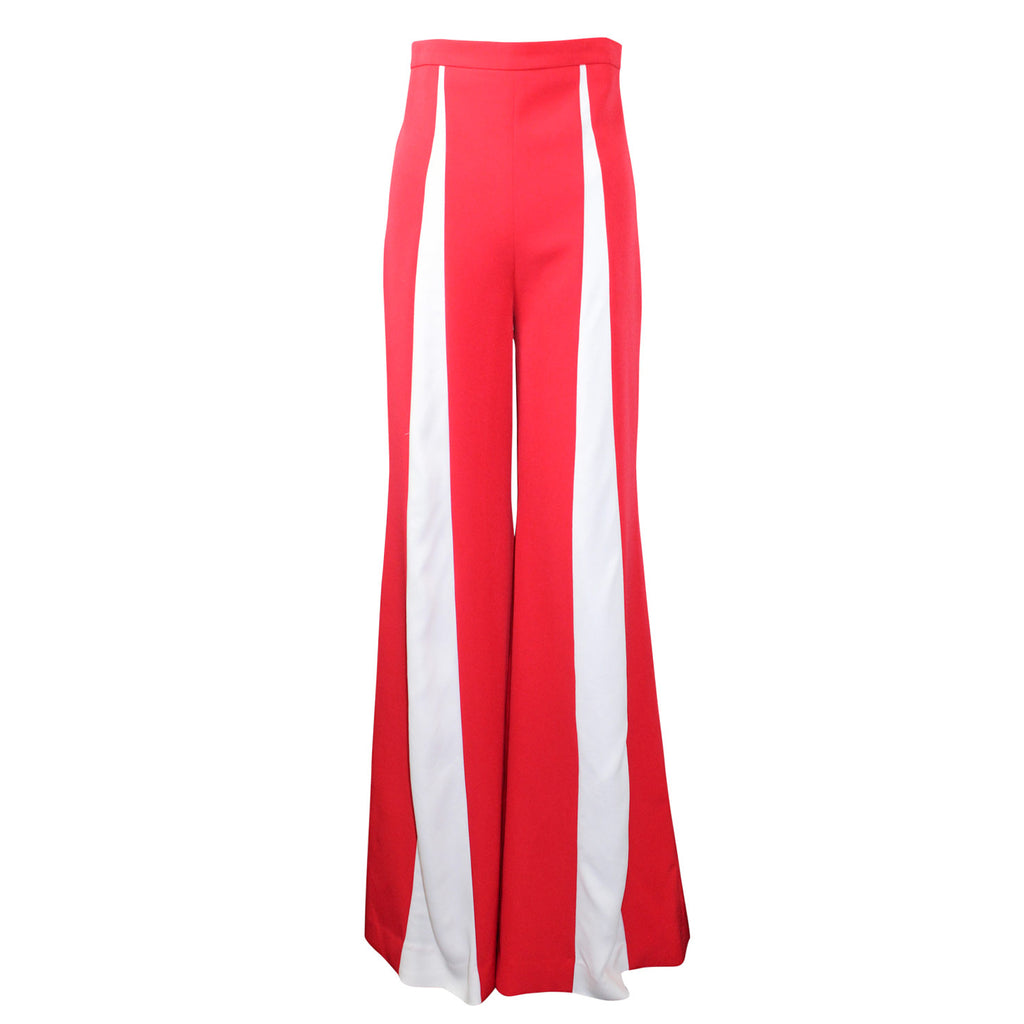 Alexandra Long Red/White Wide Leg Dress Trouser Size 4 Muse Boutique Outlet | Shop Designer Pant on Sale | Up to 90% Off Designer Fashion