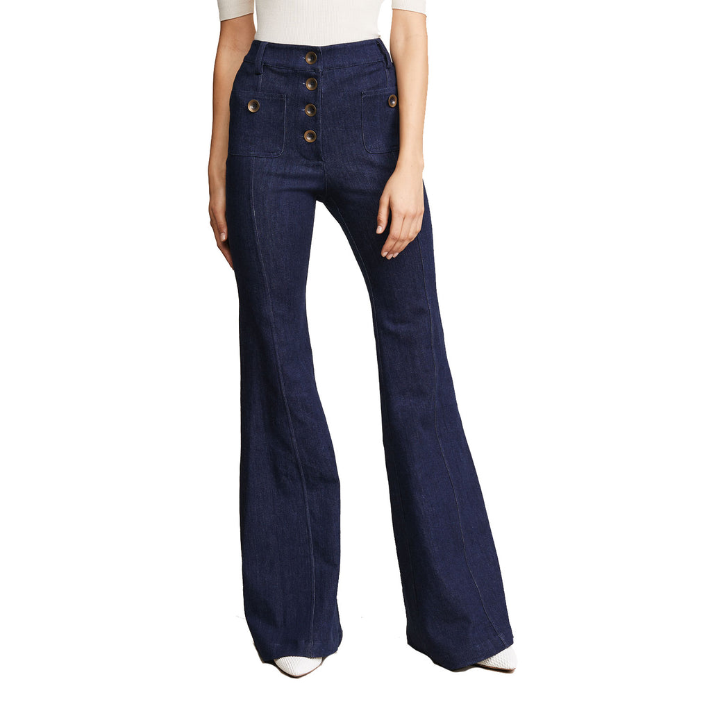 Alexis Denim Ferris Flared Pants Size Extra small Muse Boutique Outlet | Shop Designer Denim Pants on Sale | Up to 90% Off Designer Fashion