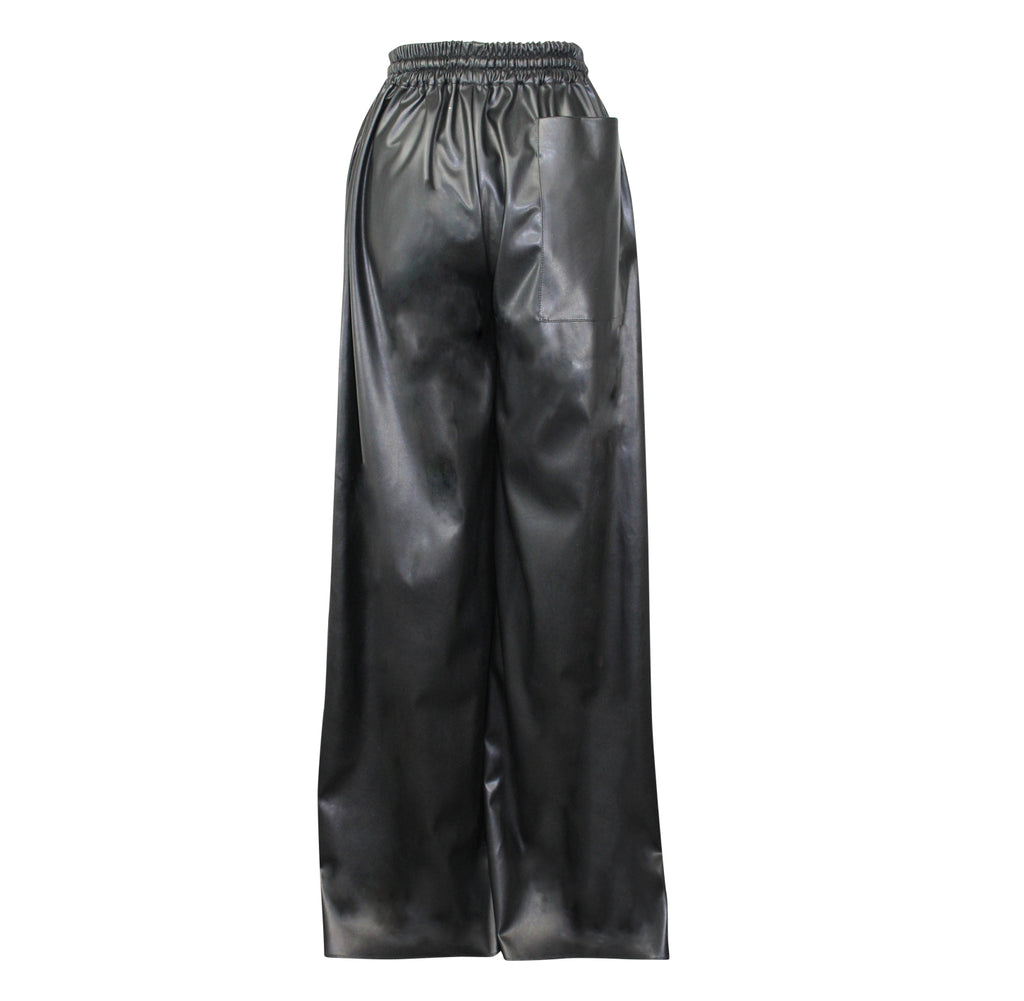 Alexandra Long  Faux Leather Wide Leg Trouser Size  Muse Boutique Outlet | Shop Designer Pant on Sale | Up to 90% Off Designer Fashion