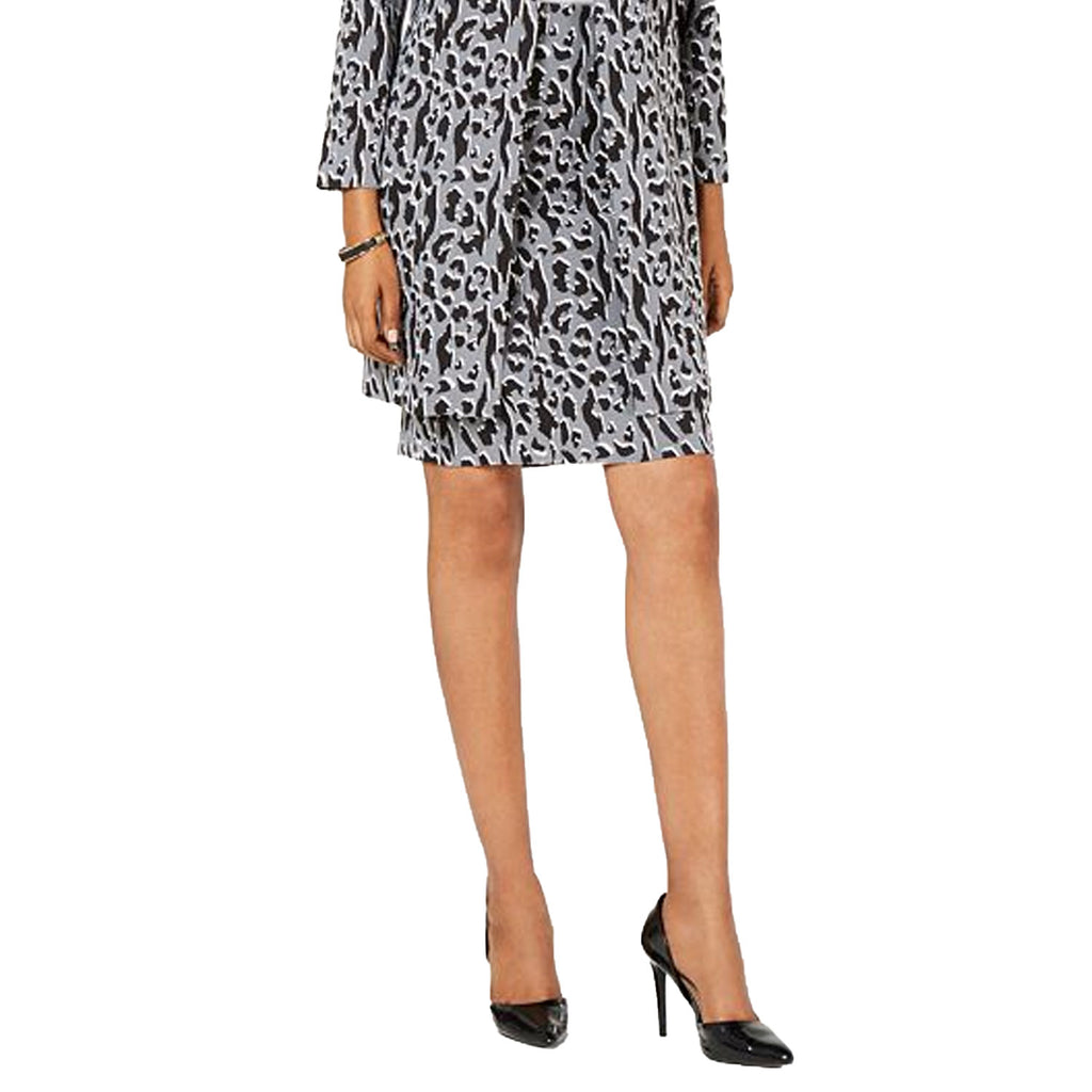 Alfani Grey Leopard Print Pencil Skirt Size 8 Muse Boutique Outlet | Shop Designer Clearance Skirts on Sale | Up to 90% Off Designer Fashion