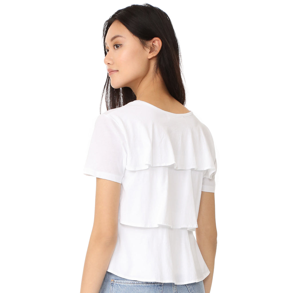 AMO  Ruffle Tee Size  Muse Boutique Outlet | Shop Designer Short Sleeve Tops on Sale | Up to 90% Off Designer Fashion