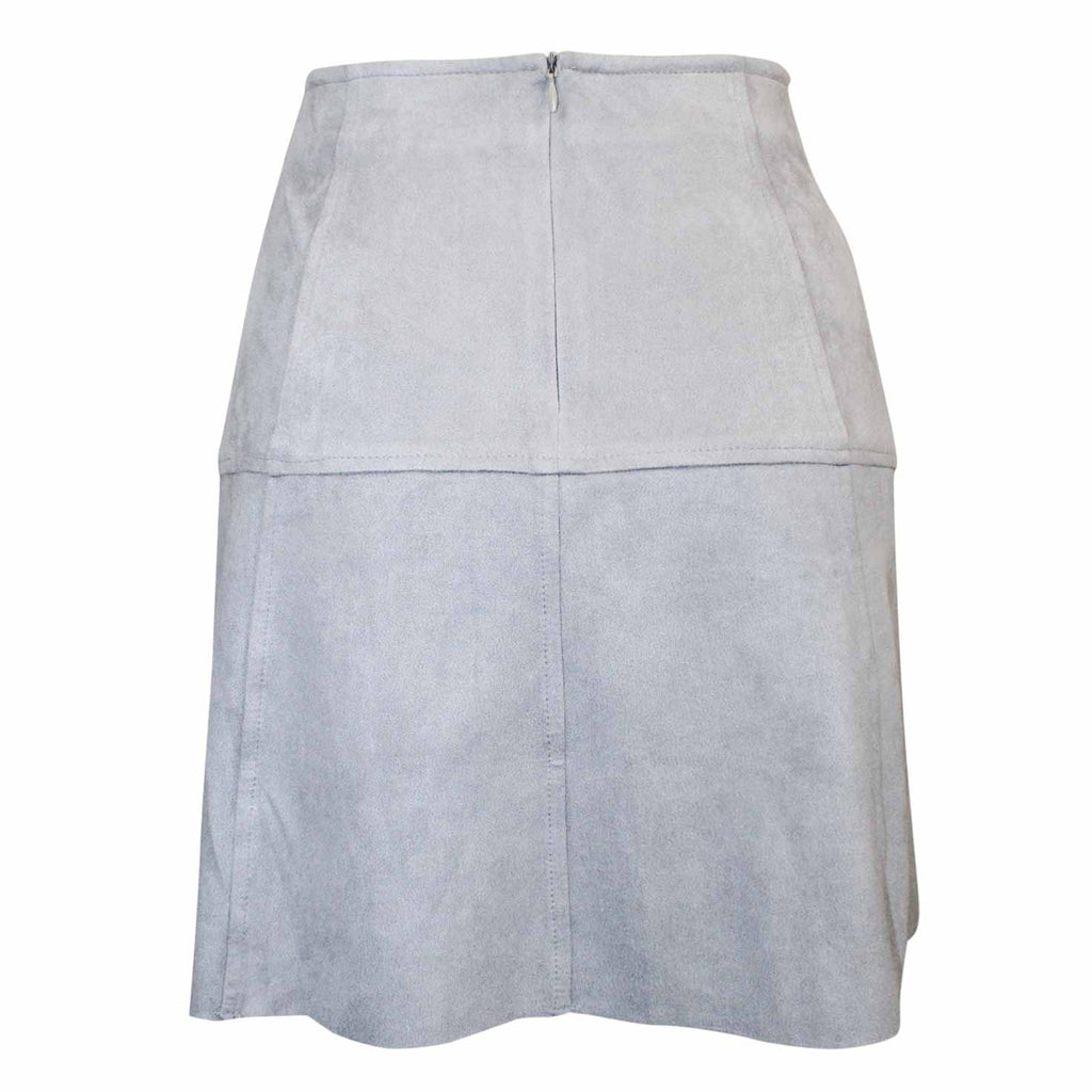 AMT  Faux Suede A Line Mini Skirt Size  Muse Boutique Outlet | Shop Designer Clearance Skirts on Sale | Up to 90% Off Designer Fashion
