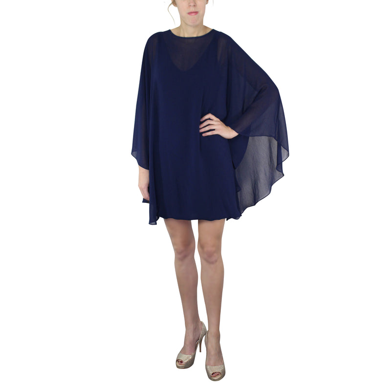 Analili Navy V-Neck Butterfly Dress Size Extra Small/Small Muse Boutique Outlet | Shop Designer Dresses on Sale | Up to 90% Off Designer Fashion