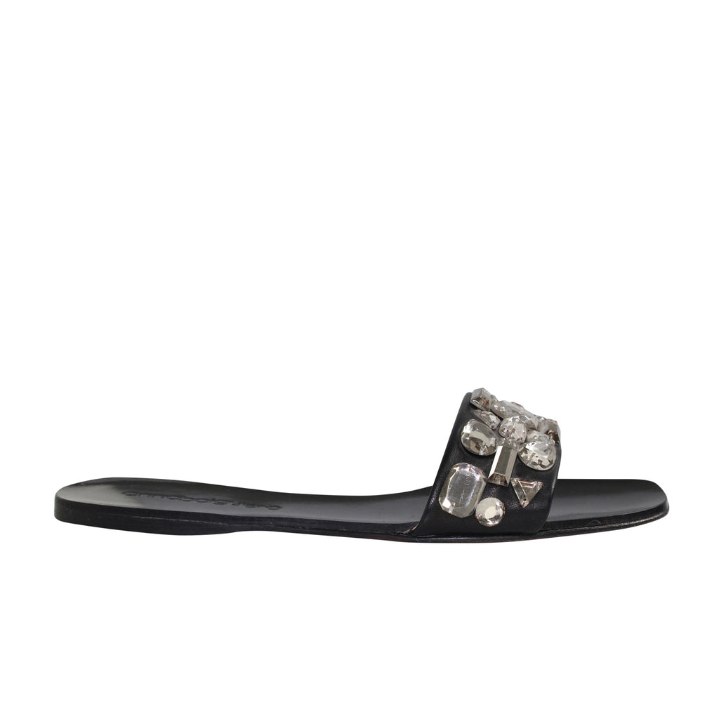 Anna Baiguera Black Annielle Jewel Slide Size 36 Muse Boutique Outlet | Shop Designer Flats on Sale | Up to 90% Off Designer Fashion