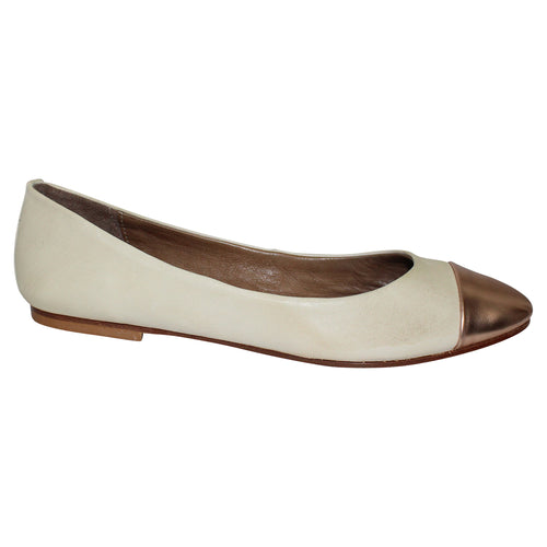Anna Baiguera Annina Ballet Flats 37 Beige/Rose Gold Muse Boutique Outlet