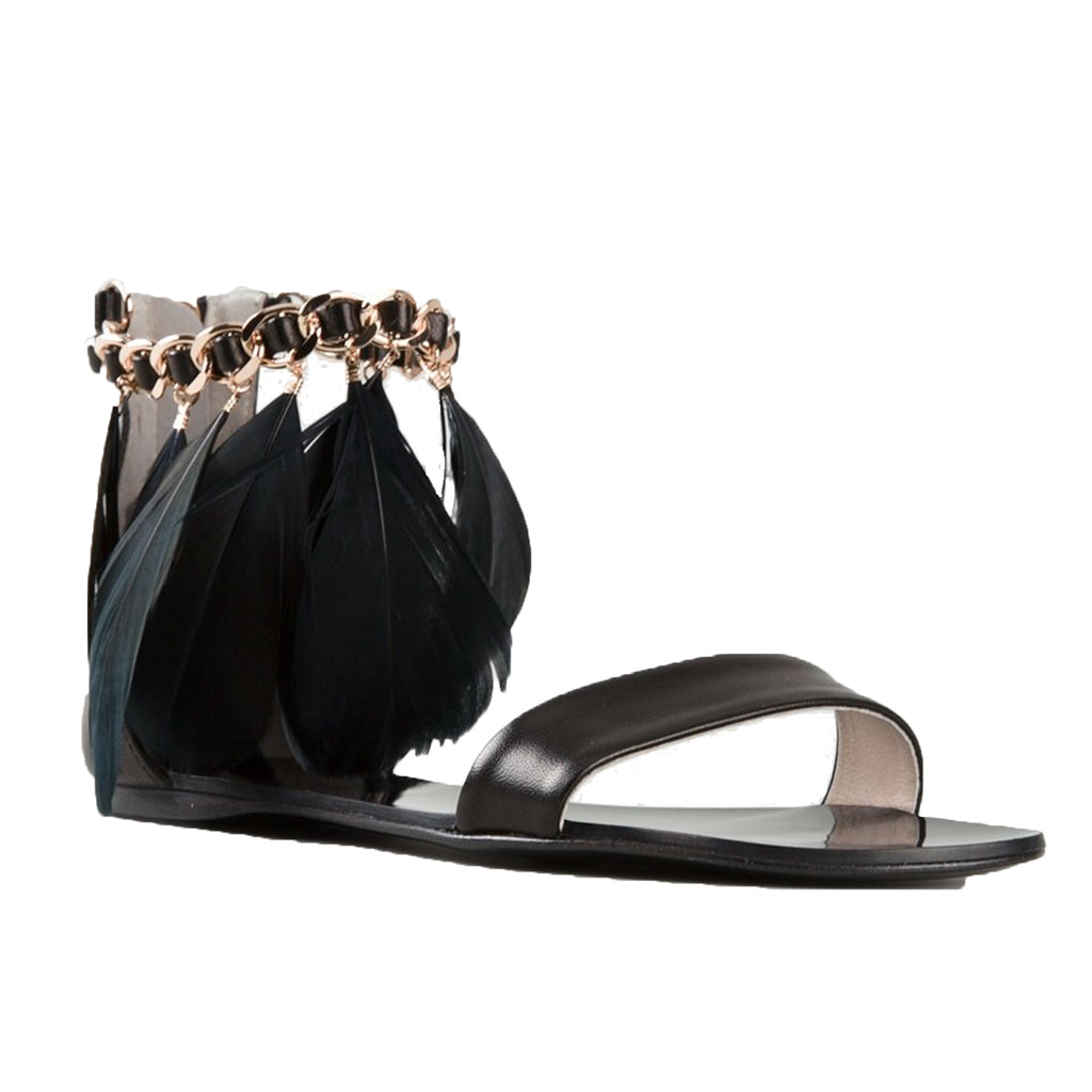 Anna Baiguera  Feather Sandal Size  Muse Boutique Outlet | Shop Designer Flats on Sale | Up to 90% Off Designer Fashion
