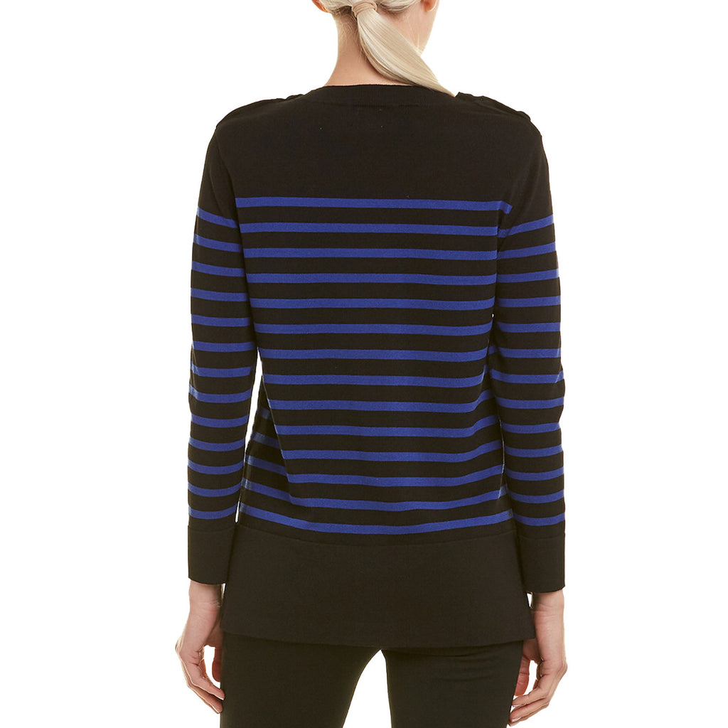 Anne Klein  Striped High Low Sweater Size  Muse Boutique Outlet | Shop Designer Clearance Sweaters on Sale | Up to 90% Off Designer Fashion