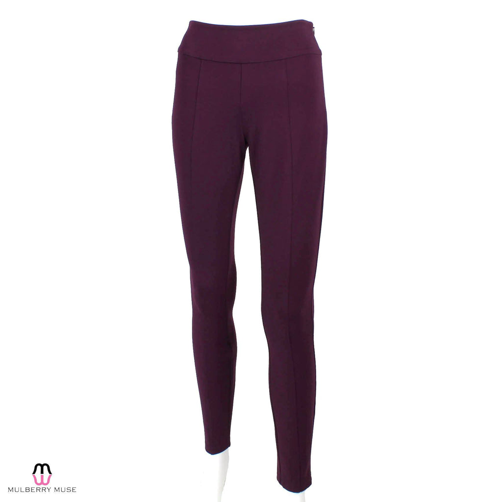 Annie Griffin Plum Lynn Ponte Knit Legging Size Extra Small Muse Boutique Outlet | Shop Designer Clearance Bottoms on Sale | Up to 90% Off Designer Fashion