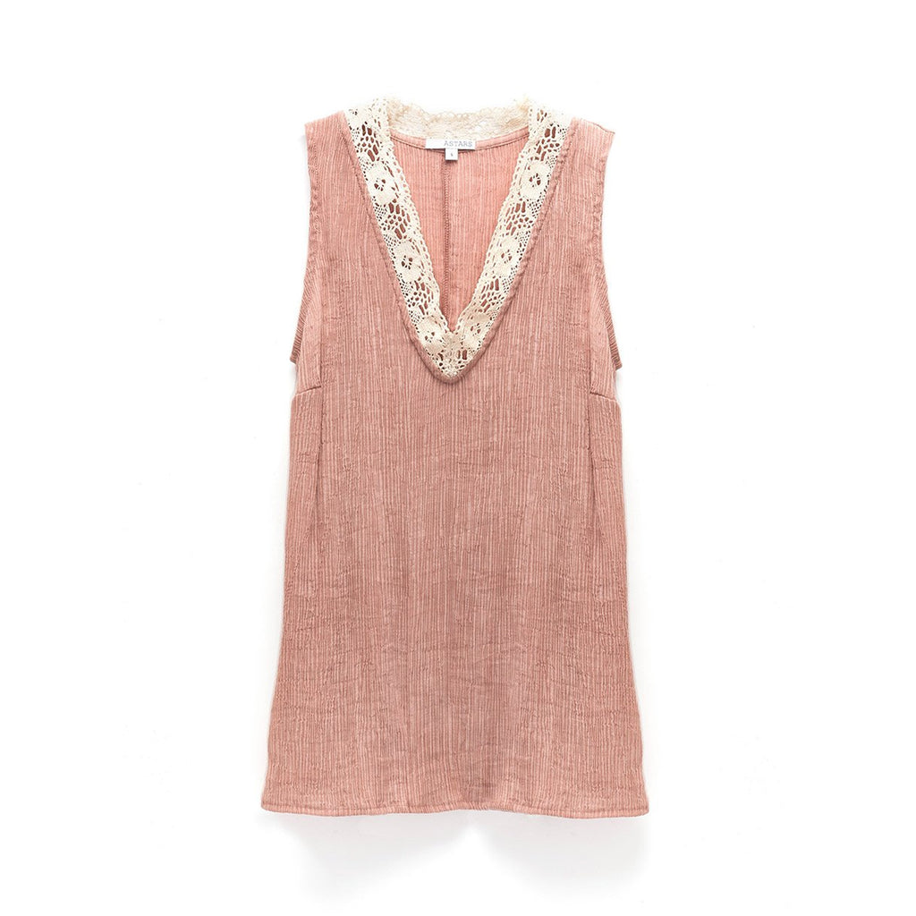 Astars Blush Crystal Cove Top Size Medium Muse Boutique Outlet | Shop Designer Sleeveless Tops on Sale | Up to 90% Off Designer Fashion