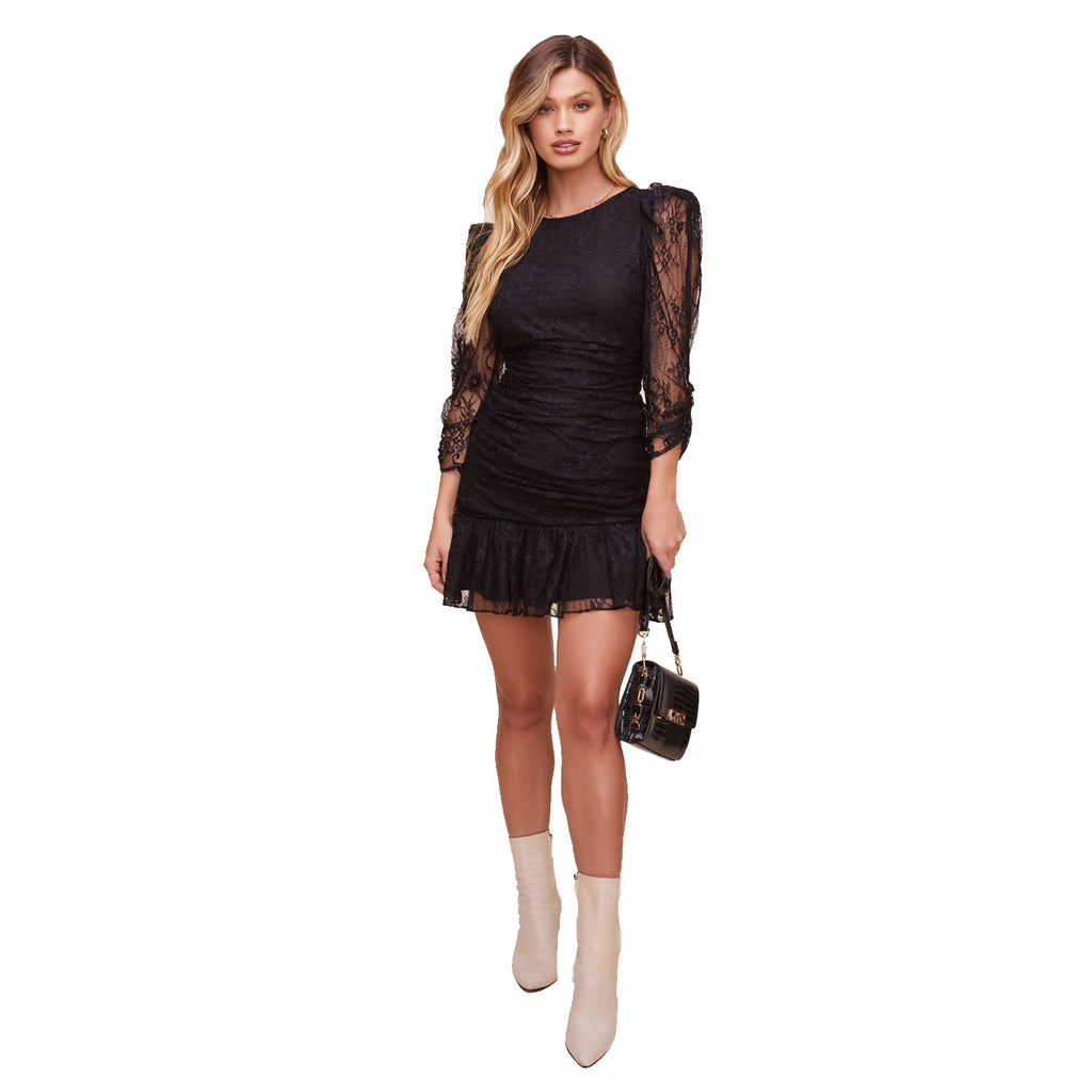 ASTR The Label Black Long Sleeve Lace Mini Dress Size Extra Small Muse Boutique Outlet | Shop Designer Dresses on Sale | Up to 90% Off Designer Fashion