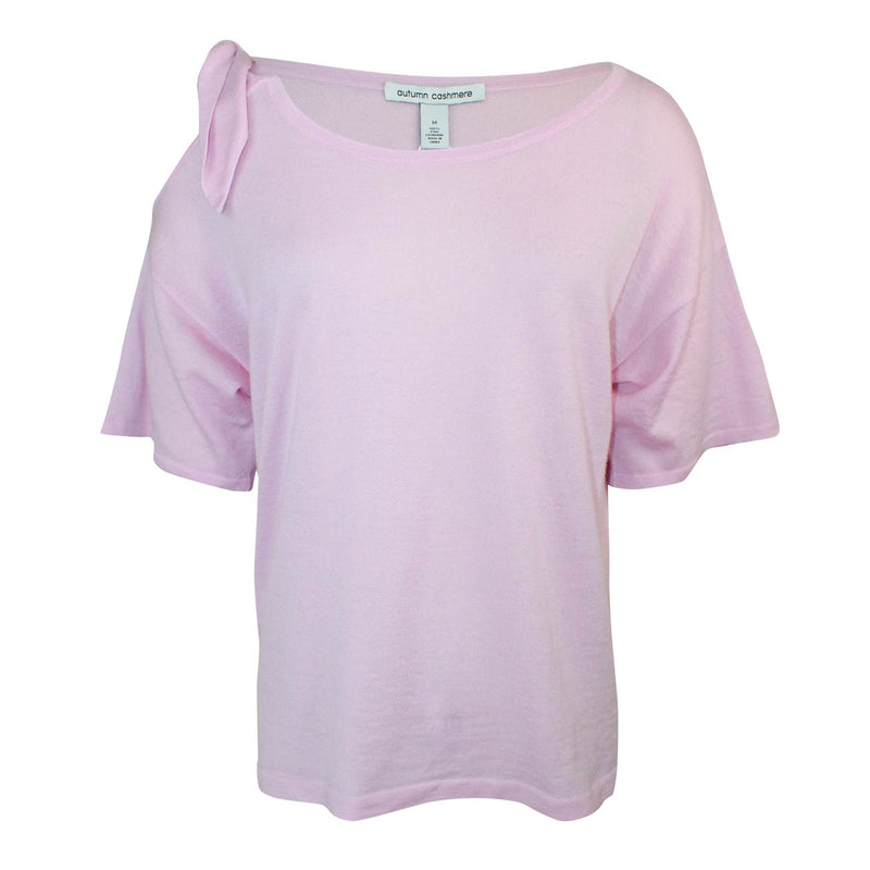 Autumn Cashmere Orchid Tied Shoulder Tee Size Medium Muse Boutique Outlet | Shop Designer Short Sleeve Tops on Sale | Up to 90% Off Designer Fashion