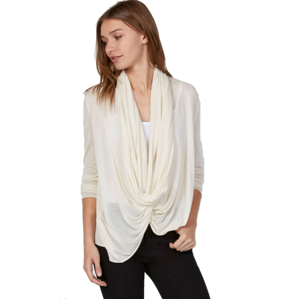 Bailey 44 Hummus Draped Open Front 3/4 Sleeve Cardigan Size Extra Small Muse Boutique Outlet | Shop Designer Clearance Outerwear on Sale | Up to 90% Off Designer Fashion