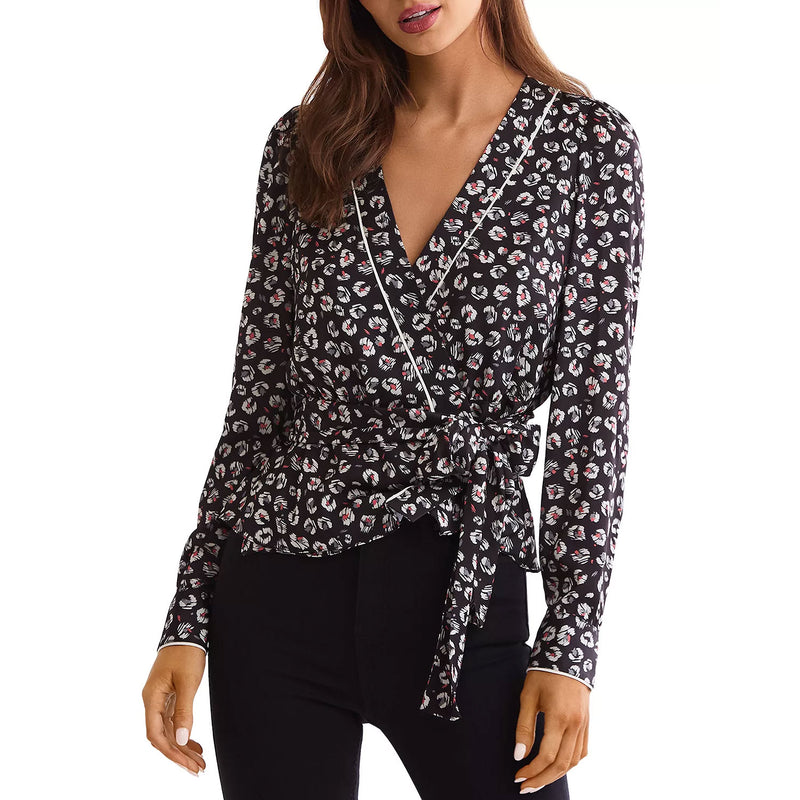 Bailey 44 Leopard Multi Marguerite Leopard Top Size 0 Muse Boutique Outlet | Shop Designer Long Sleeve Tops on Sale | Up to 90% Off Designer Fashion