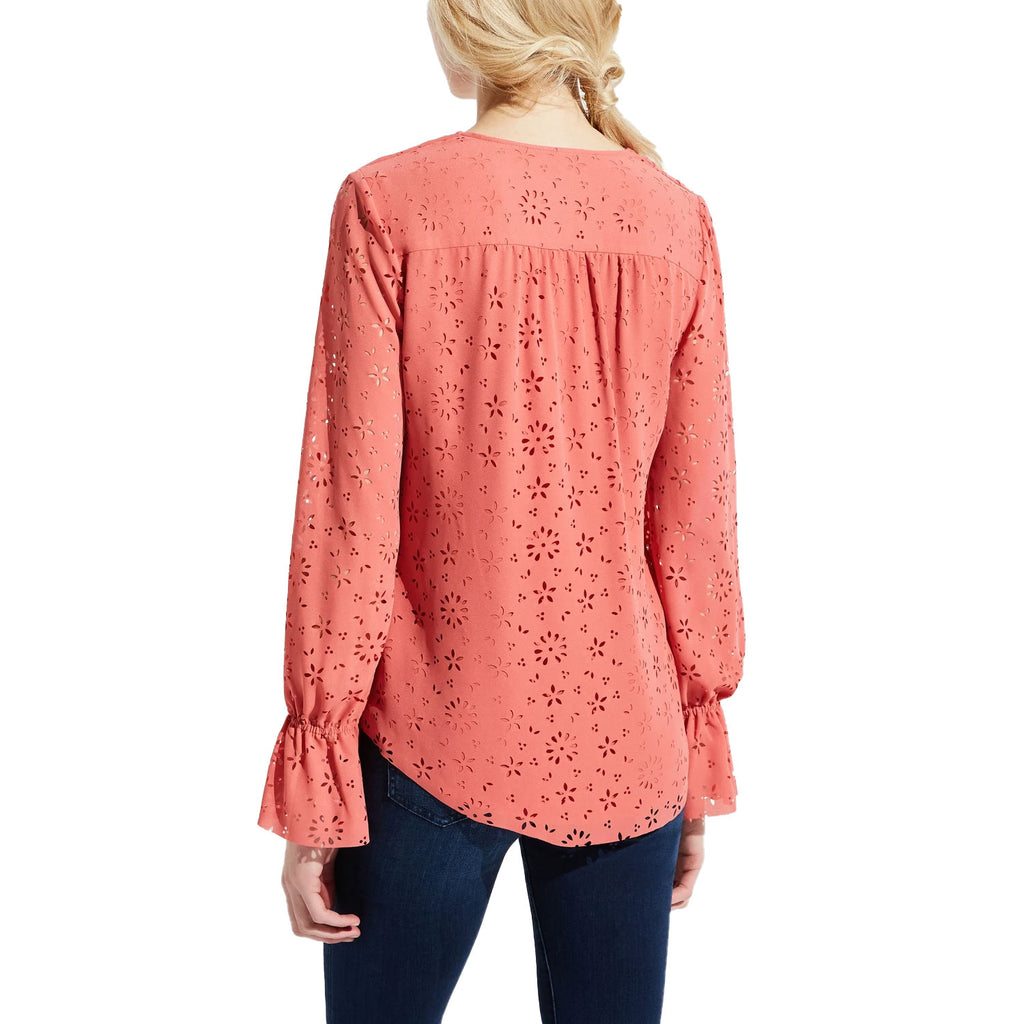 Bailey 44  Miranda Eyelet Ruffle Top Size  Muse Boutique Outlet | Shop Designer Long Sleeve Tops on Sale | Up to 90% Off Designer Fashion