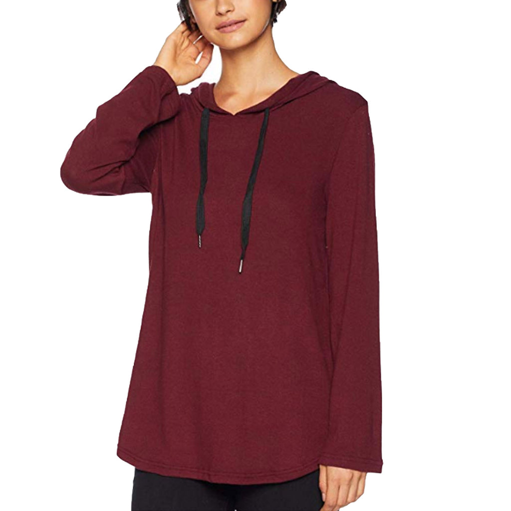 BB Dakota Bordeaux Bell Sleeve Tunic Hoodie Size Extra Small Muse Boutique Outlet | Shop Designer Clearance Outerwear on Sale | Up to 90% Off Designer Fashion