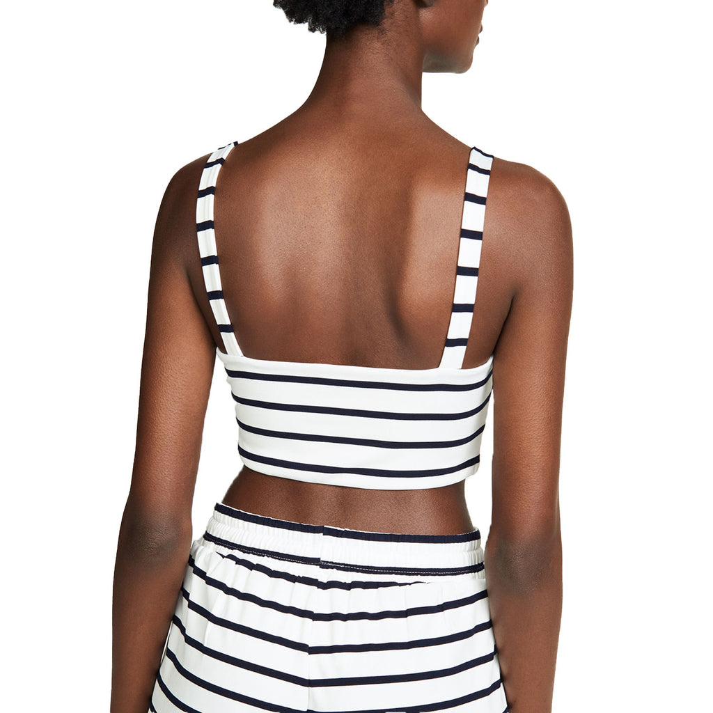BB Dakota  Striped Tie Knot Front Crop Top Size  Muse Boutique Outlet | Shop Designer Sleeveless Tops on Sale | Up to 90% Off Designer Fashion