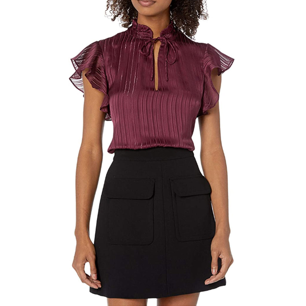 BB Dakota Boysenberry Lurex Striped Top Size Extra Small Muse Boutique Outlet | Shop Designer Clearance Tops on Sale | Up to 90% Off Designer Fashion