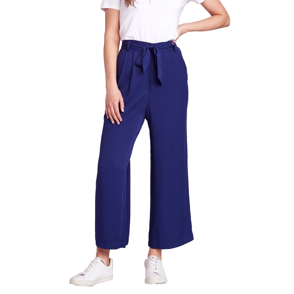 BB Dakota Vintage Blue She's Sophisticated Belted Cropped Pant Size 0 Muse Boutique Outlet | Shop Designer Pant on Sale | Up to 90% Off Designer Fashion