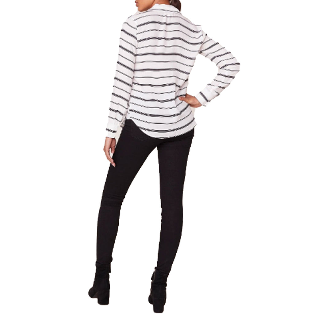 BB Dakota  Striped Button Down Size  Muse Boutique Outlet | Shop Designer Clearance Tops on Sale | Up to 90% Off Designer Fashion