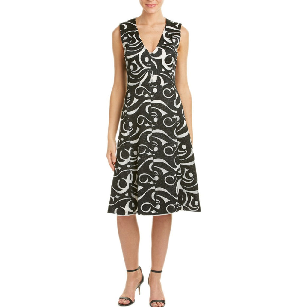 BCBG Maxazria Black/White Swirl Embroidered A-Line Swirl Dress Size 0 Muse Boutique Outlet | Shop Designer Dresses on Sale | Up to 90% Off Designer Fashion