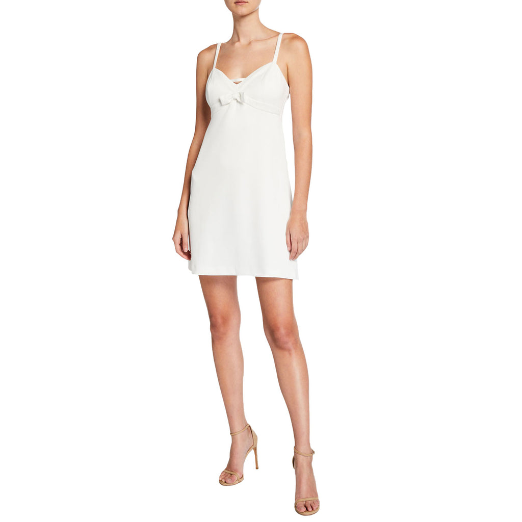 Betsey Johnson Vanilla Frosting Techno Knit Sleeveless Bow Dress Size 6 Muse Boutique Outlet | Shop Designer Clearance Dresses on Sale | Up to 90% Off Designer Fashion