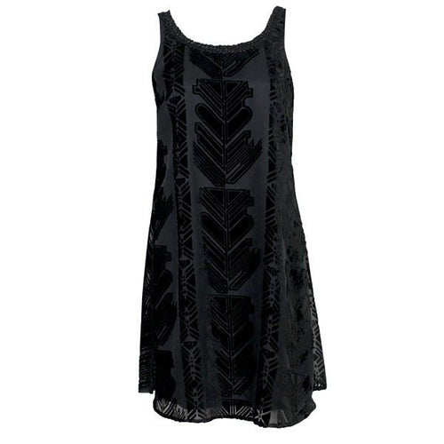 Plenty by Tracey Reese Velvet Burnout Dress Small Black Muse Boutique Outlet