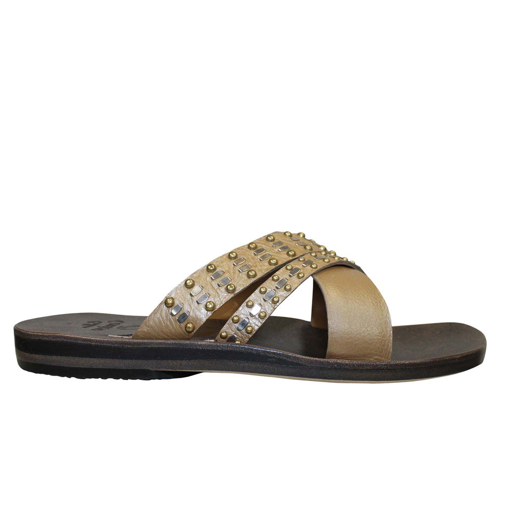 Calleen Cordero Champange Rasha Slide Sandal Size 10 Muse Boutique Outlet | Shop Designer Sandals on Sale | Up to 90% Off Designer Fashion