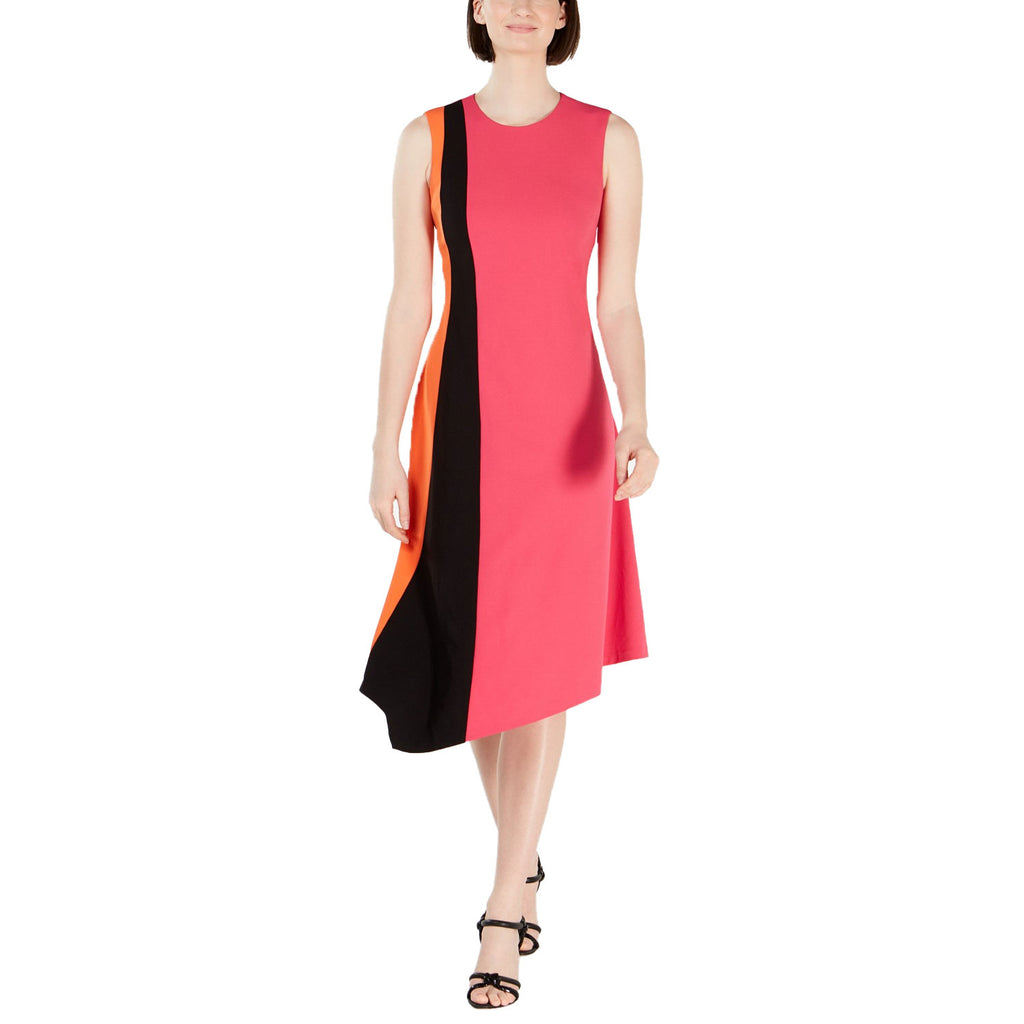 Calvin Klein Pink Colorblock Asymmetrical Dress Size 16 Muse Boutique Outlet | Shop Designer Dresses on Sale | Up to 90% Off Designer Fashion