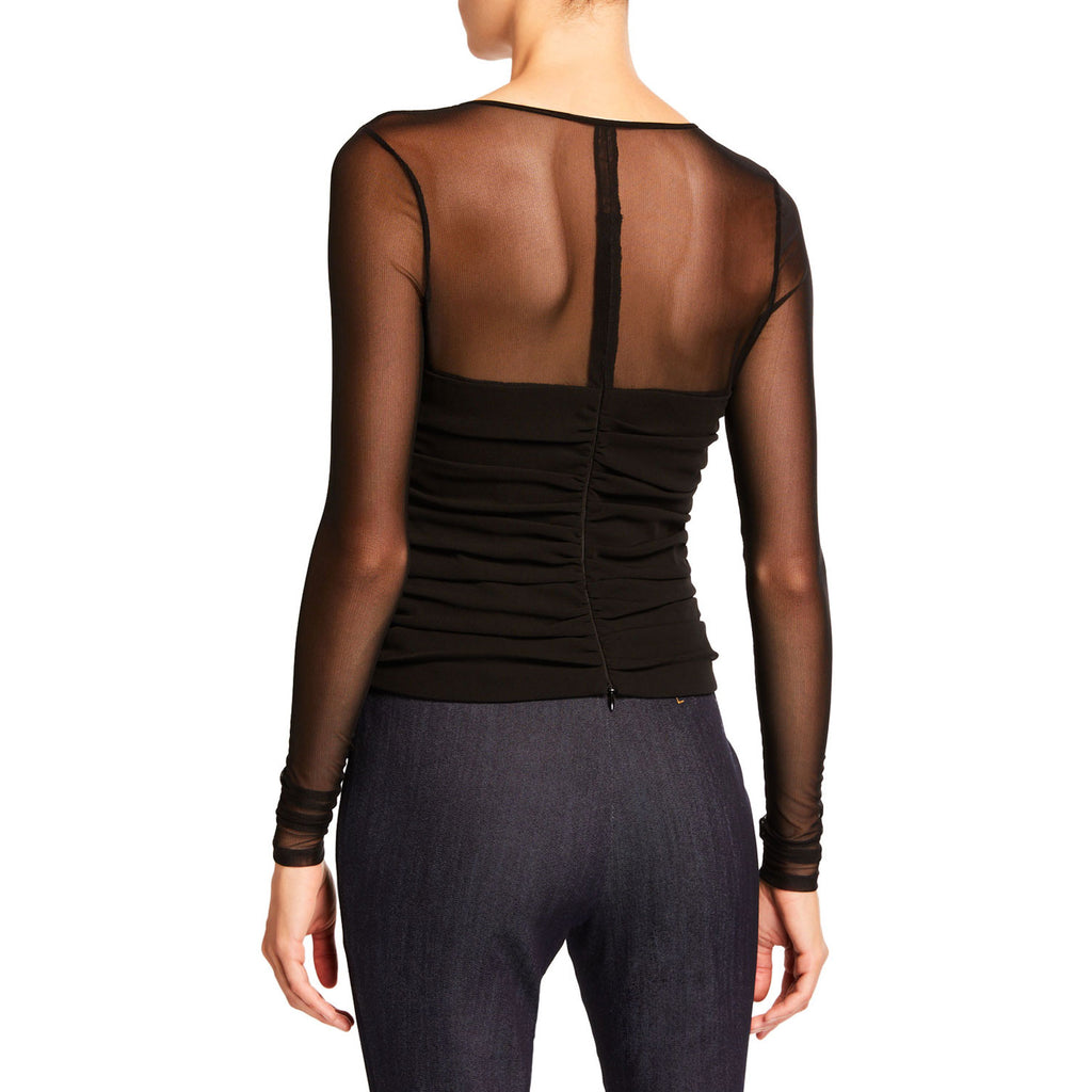 Cinq A Sept  Zephyr Mesh Top Size  Muse Boutique Outlet | Shop Designer Long Sleeve Tops on Sale | Up to 90% Off Designer Fashion