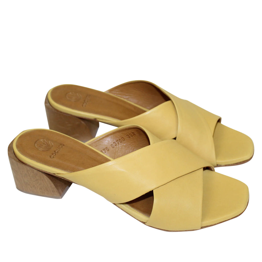 Coclico Natur Ocre Olsen Slide Sandals Size 40 Muse Boutique Outlet | Shop Designer Sandals on Sale | Up to 90% Off Designer Fashion