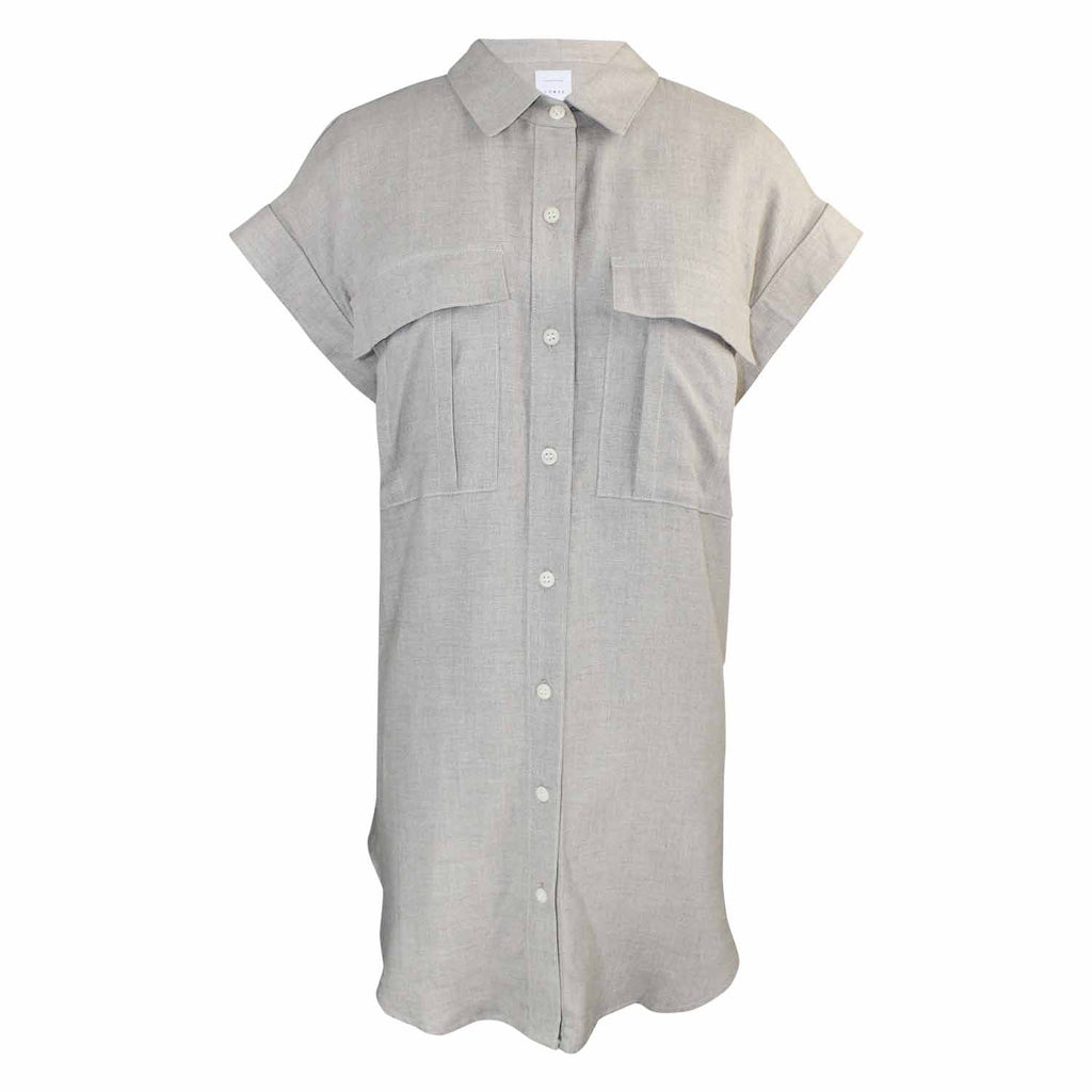 Coast Natural Linen Button Up Tunic Top Size Small Muse Boutique Outlet | Shop Designer Short Sleeve Tops on Sale | Up to 90% Off Designer Fashion