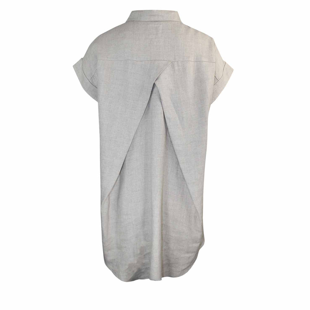 Coast  Linen Button Up Tunic Top Size  Muse Boutique Outlet | Shop Designer Short Sleeve Tops on Sale | Up to 90% Off Designer Fashion