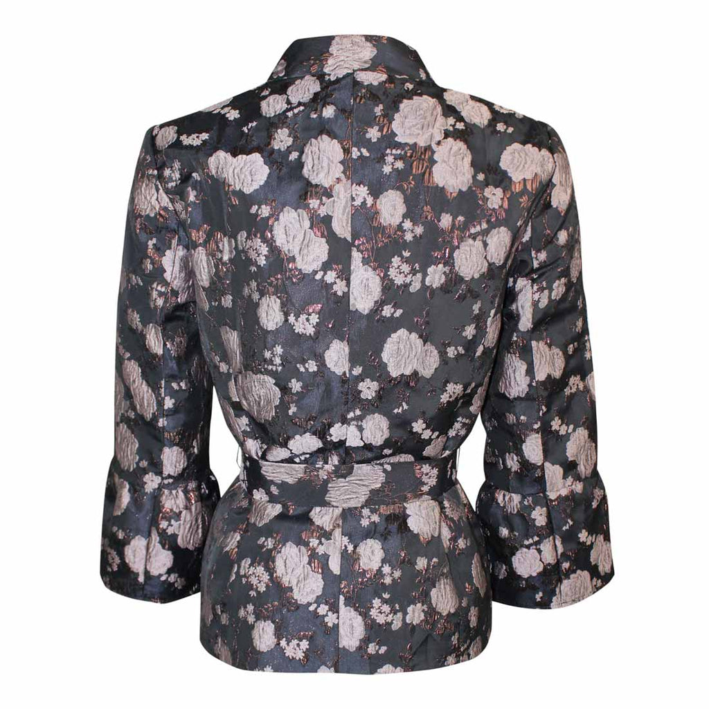 Cream  Floral Brocade Jacket Size  Muse Boutique Outlet | Shop Designer Blazers on Sale | Up to 90% Off Designer Fashion