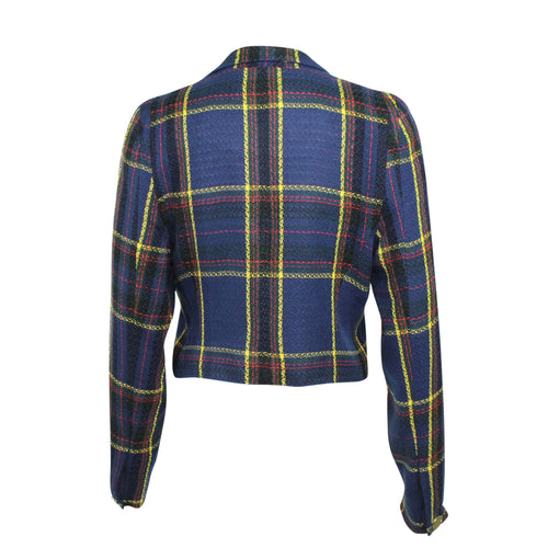 Naven Cropped Plaid Vamp Jacket   Muse Boutique Outlet