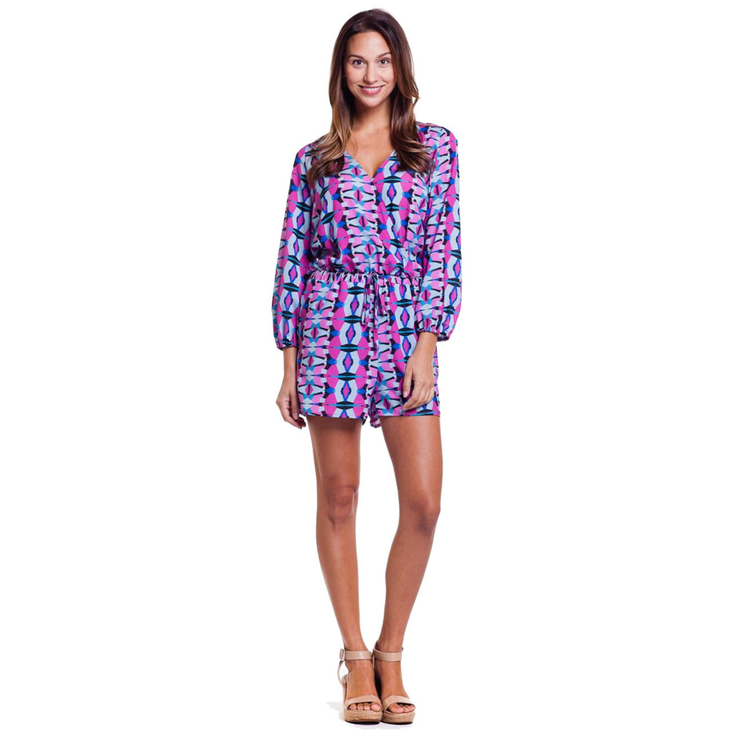 Cuddy Atlantis Print Long Sleeve Printed Romper Size Small Muse Boutique Outlet | Shop Designer Clearance Bottoms on Sale | Up to 90% Off Designer Fashion