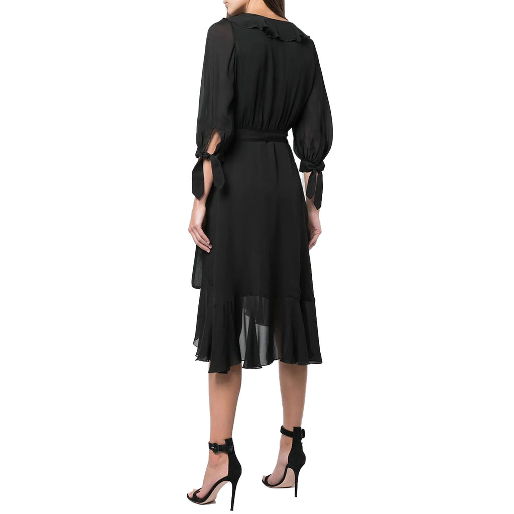 Cynthia Rowley  Silk Chiffon Ruffle Wrap Dress Size  Muse Boutique Outlet | Shop Designer Dresses on Sale | Up to 90% Off Designer Fashion