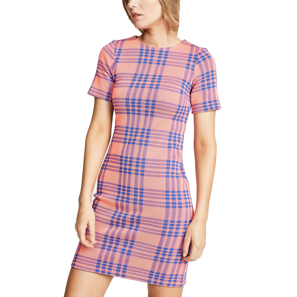 Cynthia Rowley Pink Plaid Plaid Knit Sheath Dress Size 2 Muse Boutique Outlet | Shop Designer Dresses on Sale | Up to 90% Off Designer Fashion