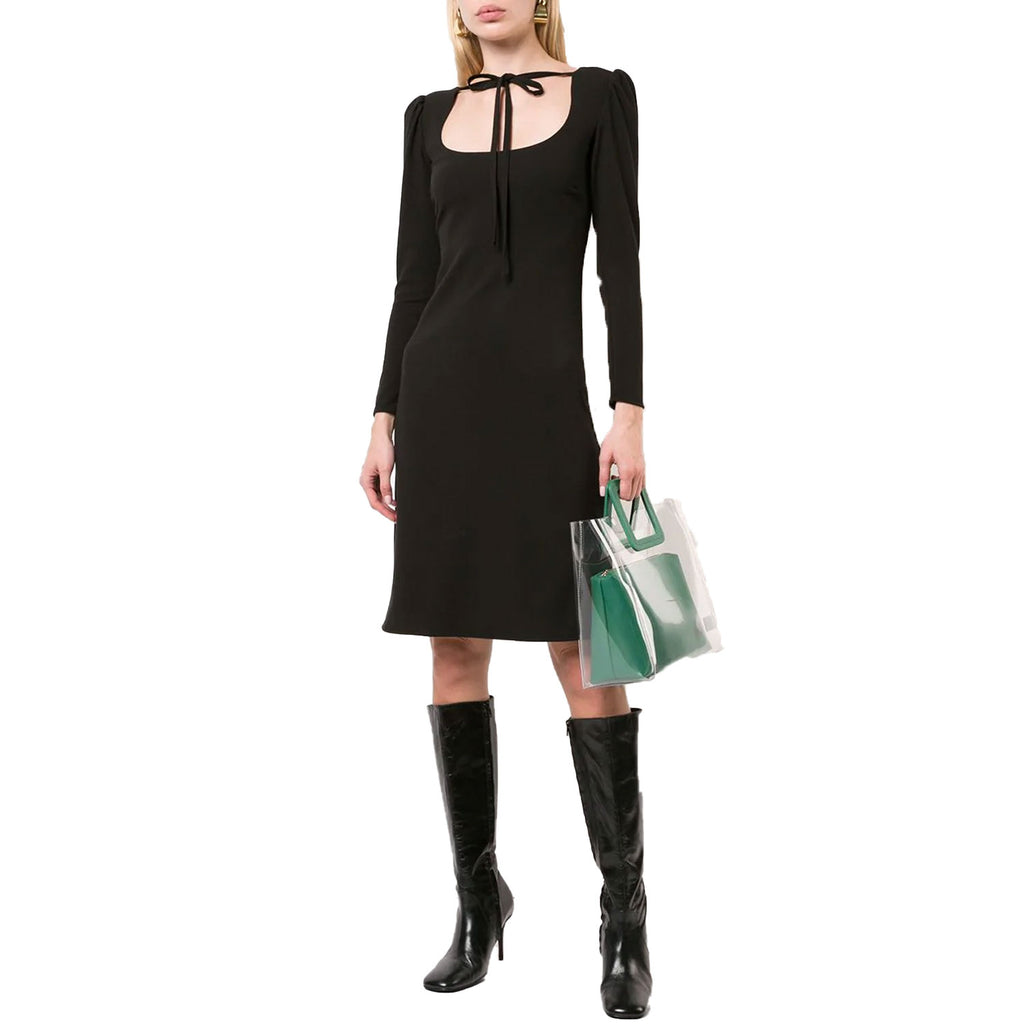 Cynthia Rowley Black Crepe Tie Neck Dress Size 0 Muse Boutique Outlet | Shop Designer Dresses on Sale | Up to 90% Off Designer Fashion