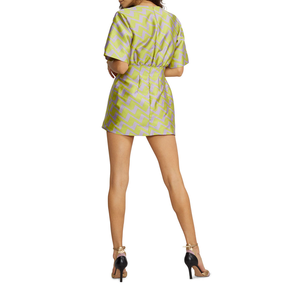 Cynthia Rowley  Evanston Jacquard Zig Zag Mini Dress Size  Muse Boutique Outlet | Shop Designer Dresses on Sale | Up to 90% Off Designer Fashion