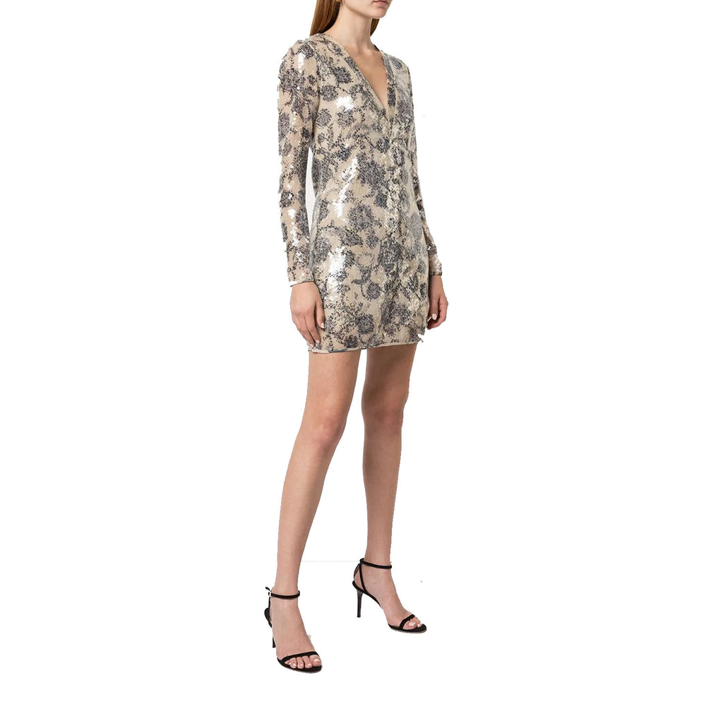 Cynthia Rowley Black/Beige Malia Sequin Long Sleeve Dress Size 0 Muse Boutique Outlet | Shop Designer Dresses on Sale | Up to 90% Off Designer Fashion