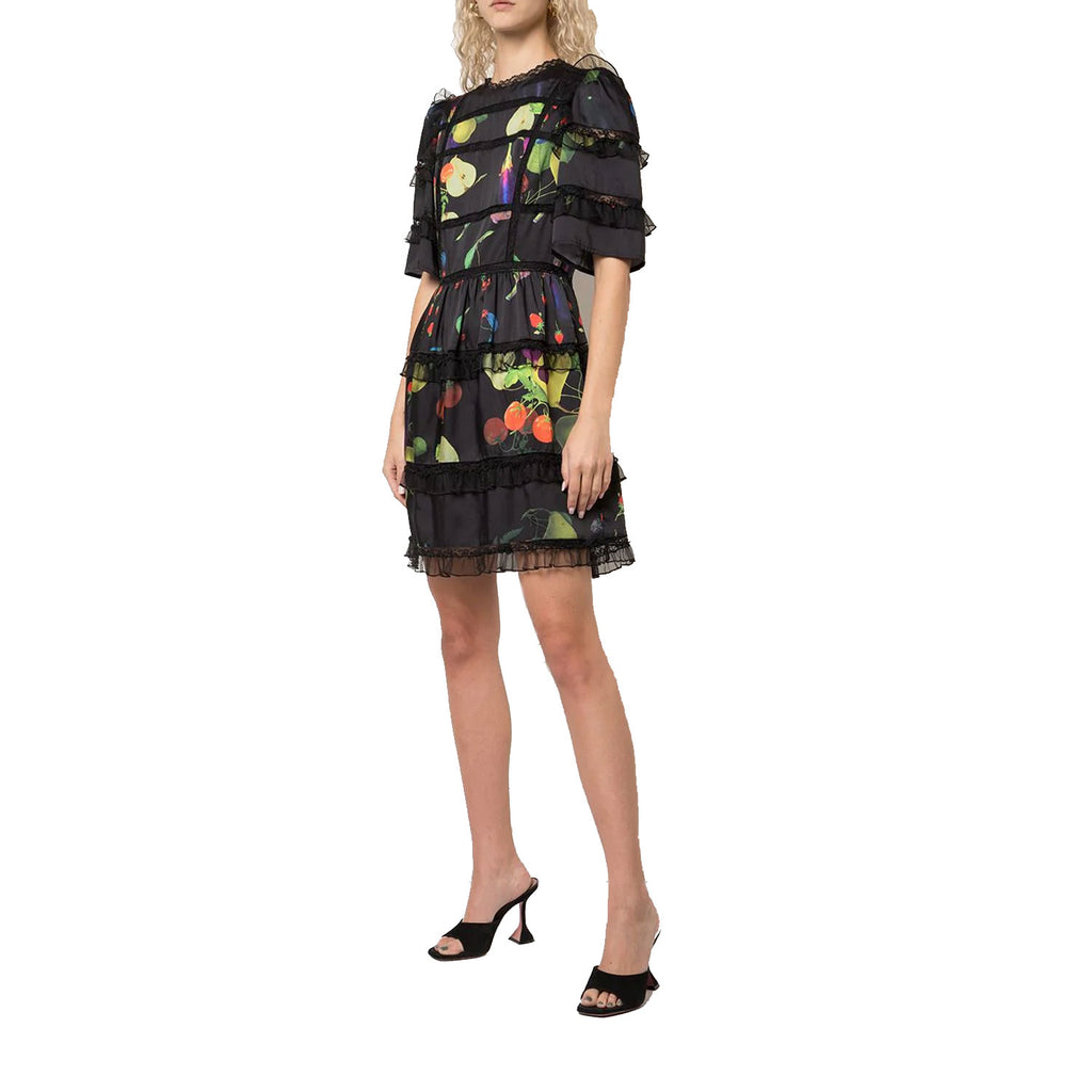 Cynthia Rowley Black Multi Olivia Printed Lace Tulle Mini Dress Size 0 Muse Boutique Outlet | Shop Designer Dresses on Sale | Up to 90% Off Designer Fashion