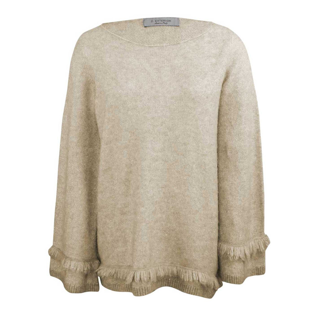 D. Exterior Camel Lurex Fringe Trim Sweater Size Large Muse Boutique Outlet | Shop Designer Sweaters on Sale | Up to 90% Off Designer Fashion