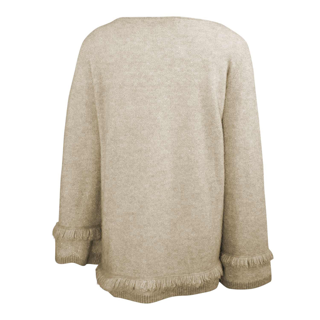 D. Exterior  Lurex Fringe Trim Sweater Size  Muse Boutique Outlet | Shop Designer Sweaters on Sale | Up to 90% Off Designer Fashion