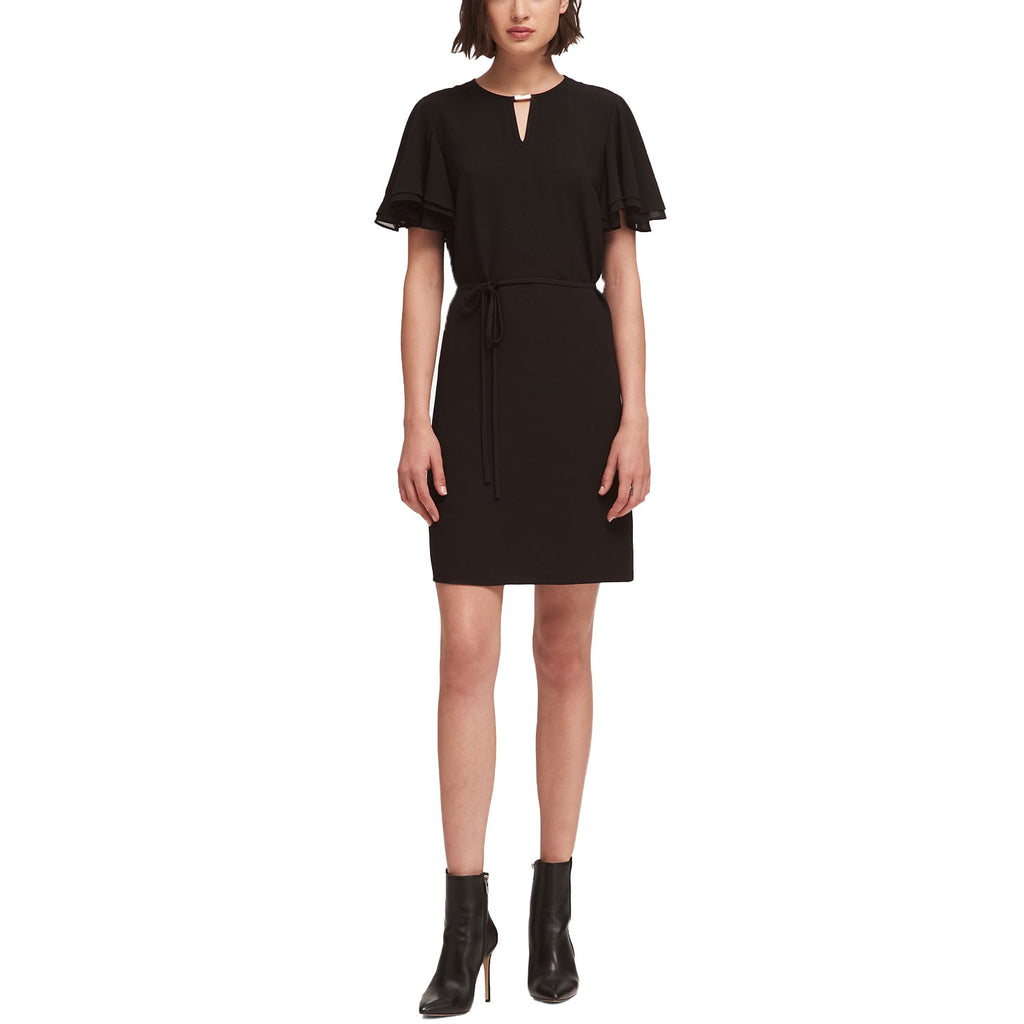 DKNY Black Flounce Sleeve Keyhole Dress Size Small Muse Boutique Outlet | Shop Designer Dresses on Sale | Up to 90% Off Designer Fashion